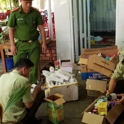 Bắt giữ gần 1.200 sản phẩm mỹ phẩm, thực phẩm nhập lậu