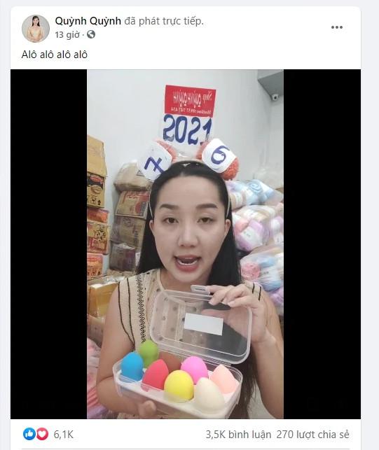 Bị đình chỉ vì bán nước hoa giả, vợ Lê Dương Bảo Lâm vẫn tiếp tục livestream bán hàng - Ảnh 1.