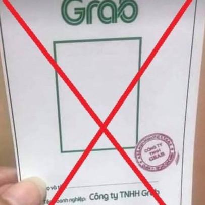 Cảnh báo rao bán thẻ có logo, con dấu giả mạo Grab