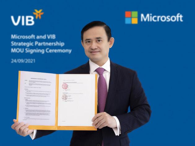 VIB hợp tác Microsoft tạo bứt phá tốc độ dịch vụ và đổi mới sáng tạo - Ảnh 1.
