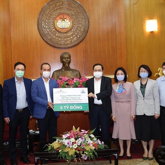 Ciputra Hanoi ủng hộ 5 tỷ phòng chống Covid-19